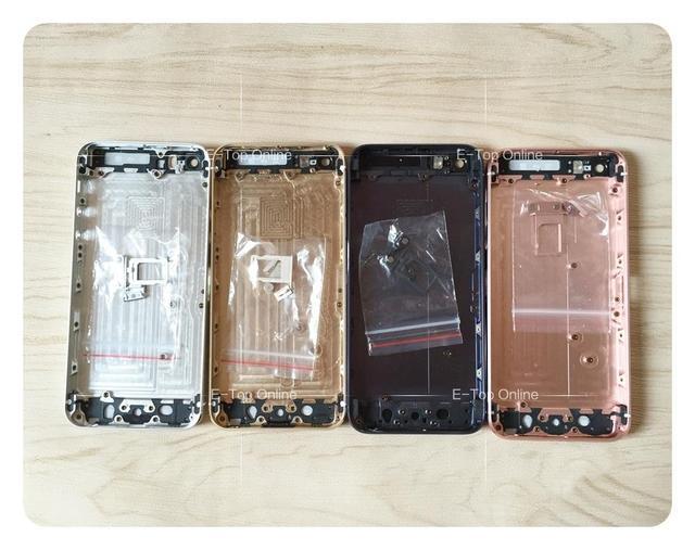 Rosa de ouro completa chassis para iphone 5 5g/5s iphone5 tampa da bateria porta habitação para trás Como SE liga de metal Personalizado IMEI + rastreamento