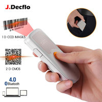 NT1000 1D 2D QR Barcode Scanner Portable Mini Bluetooth 4.0 Bar Code Reader Work with Phones, Tablet, PC with Type C interface