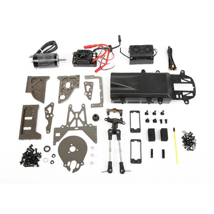 Gas Powered To Electric Metal Conversion KIT for 1/5 HPI Rovan KM E-Baja BAJA 5B 5T 5SC RC Car Parts 5t 5sc metal roll cage edition green roll cage with body for 1 5 hpi baja 5t 5sc rovan kingmotor car