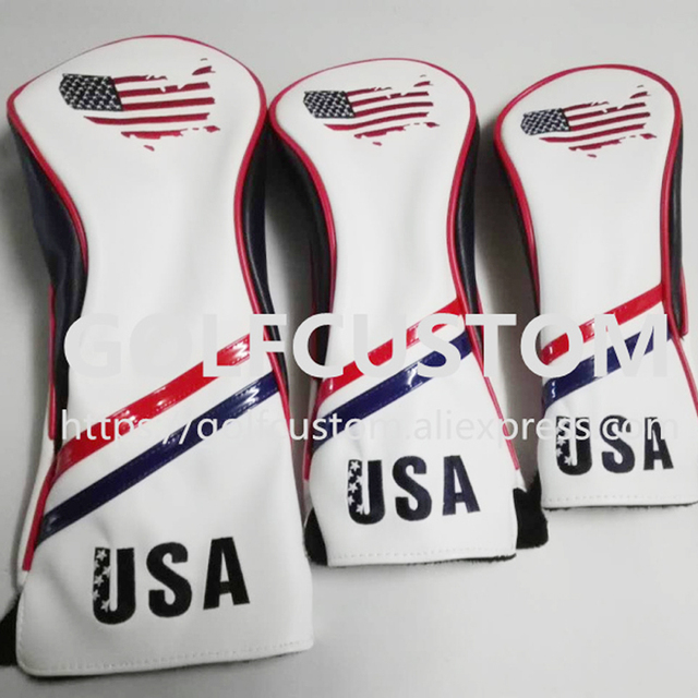 NEW style Golf Wood HeadCovers for Driver and Fairway golf club Embroidered  map of the United