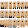 For iPhone 4s 5c 5 5s SE 6 6s 7 Plus Cute Animal Dog Cat Bulldog clear Case Cover
