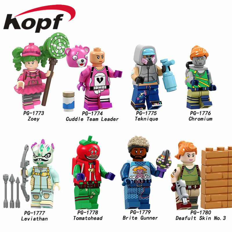 Single Sale Building Blocks Zoey Cuddle Team Leader Chromium Leviathan Tomatohead Figures Action Model Toys for Children PG8203