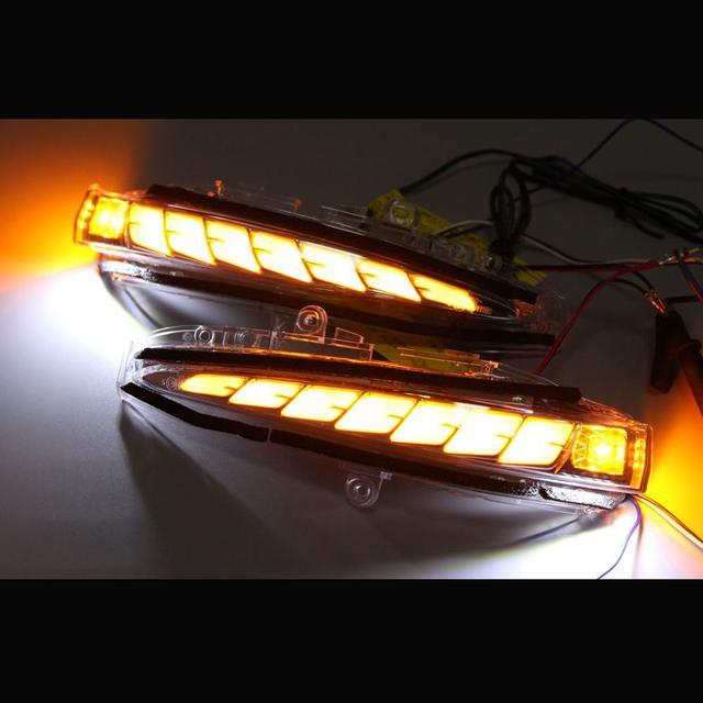 מראת אורות תור דינמי אות מנורת ריצת אור עבור 2015 20 טויוטה Alphard Vellfire 30/35