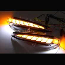 Luces de espejo retrovisor lateral, lámpara de señal de giro dinámica, luz corriente para Toyota Alphard Vellfire 2015