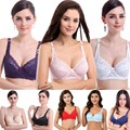Women Sexy Underwire 3/4 Cup Padded Up Embroidery Lace Sheer Bra 32-40 B Brassiere Bra Women Sexy Deep V Ultrathin Push Up Bras