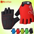 Promotion Bike Gloves Half Finger Team Guantes Ciclismo Breathable Gloves for Man Woman Kids Summer Bicycle Glove 5 Colors