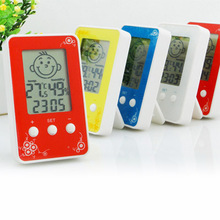 Cheap price Indoor multifunctional lcd table clock with intelligent temperature and humidity digital thermometer hygrometer weather station