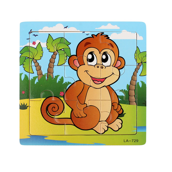 Puzzles For Children Wooden Monkey Puzzle Educational Developmental Baby Kids Training Toy Puzzles Games Dropshipping 2018