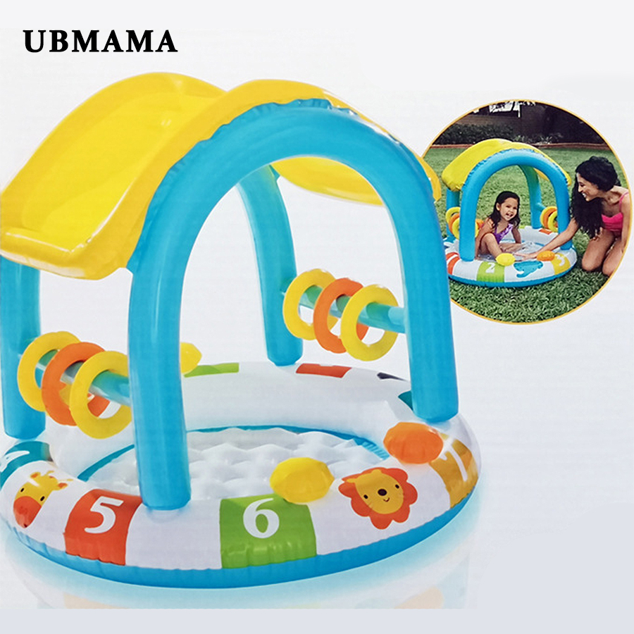 Non Toxic Inflatable Pool With Shading PVC Plastic Safety Innocuity Inflatable Floor Swimming Pool Oceanic Pool Christmas Gift