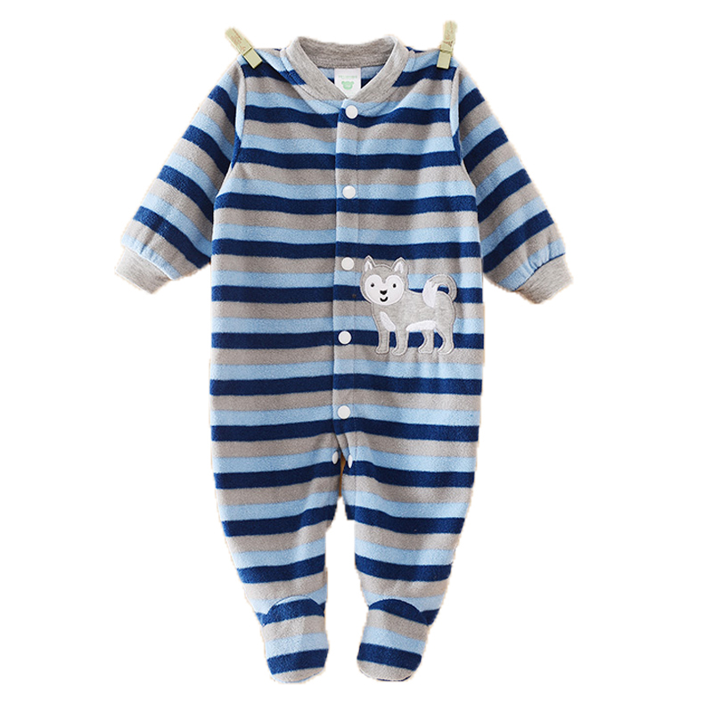 Autumn Winter Infant Baby Clothes Cartoon Baby Rompers Clothing Polar Fleece Newborn Boy Girl Next Body Baby Jumpsuit Costume baby clothes autumn winter baby rompers jumpsuit cotton baby clothing next christmas baby costume long sleeve overalls for boys
