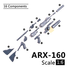 1:6 1/6 Scale 12 inch Action Figures ARX-160 Rifle Launcher Model Gun For 1/100 MG Bandai Gundam Model Kids Soldier Toys HYT0324 genuine bandai model 1 100 scale gundam models 129454 wing zero gundam plastic model kit page 8