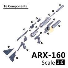 1:6 1/6 skala 12 zoll Action figuren ARX 160 Gewehr Launcher Modell Gun Für 1/100 MG Bandai Gundam Modell Kinder Soldat spielzeug HYT0324