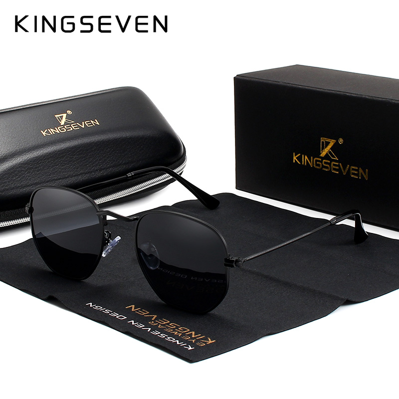 KINGSEVEN Classic Designer Round Sun glasses Female Retro Reflective Sunglasses Men Round Polarized Eyewear Oculos De Sol gafas in Men 39 s Sunglasses from Apparel Accessories