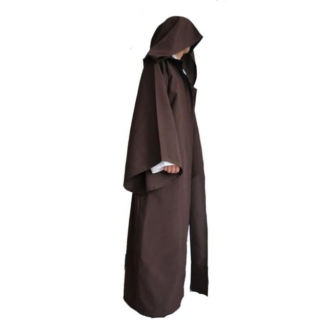 Black Men Cloak Cos Play Adult Hooded Robe Cloak Cape Halloween Costume
