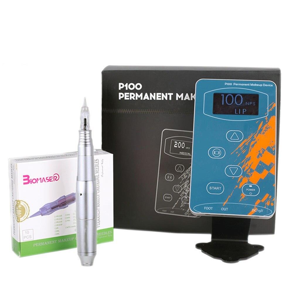 Professionnel Sourcil De Tatouage Machine Stylo Pour Maquillage Permanent Sourcils Microblading Maquillage DIY Kit Avec Aiguille De Tatouage