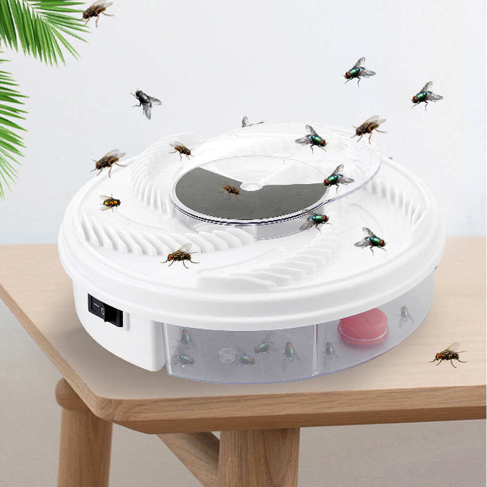 New Electric Fly Trap USB Pest Device Insect Catcher Recycling Automatic Flycatcher Effective Flies Trap Catching Insect Killer