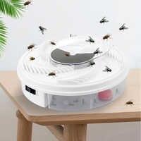 Nueva trampa eléctrica para moscas DISPOSITIVO DE PLAGAS USB receptor de insectos de reciclaje automático Flycatcher trampa de moscas efectiva captura de insectos