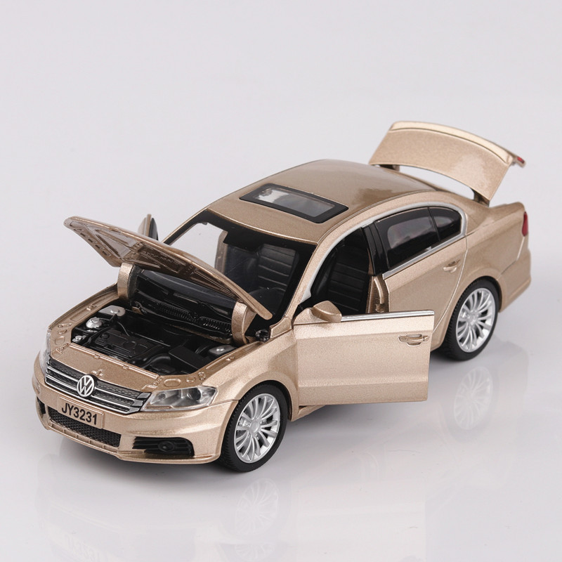 Volkswagen LAVIDA Model Mobil 1:32 Diecast Tarik Kembali Logam Paduan Mobil Simulasi Mobil Acousto-optik Mainan Koleksi Oyuncak Araba