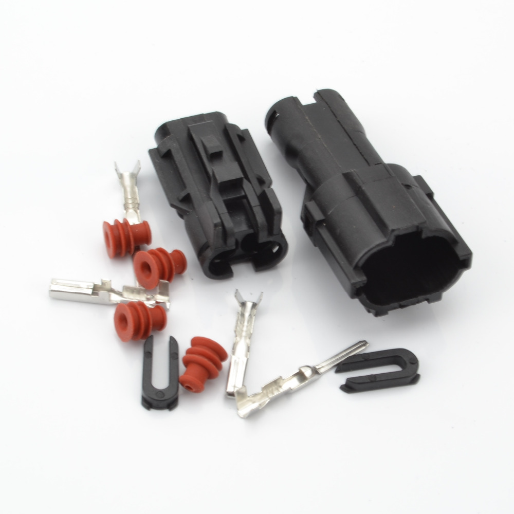 2 wire automotive connector 2P waterproof plug and socket connector ...
