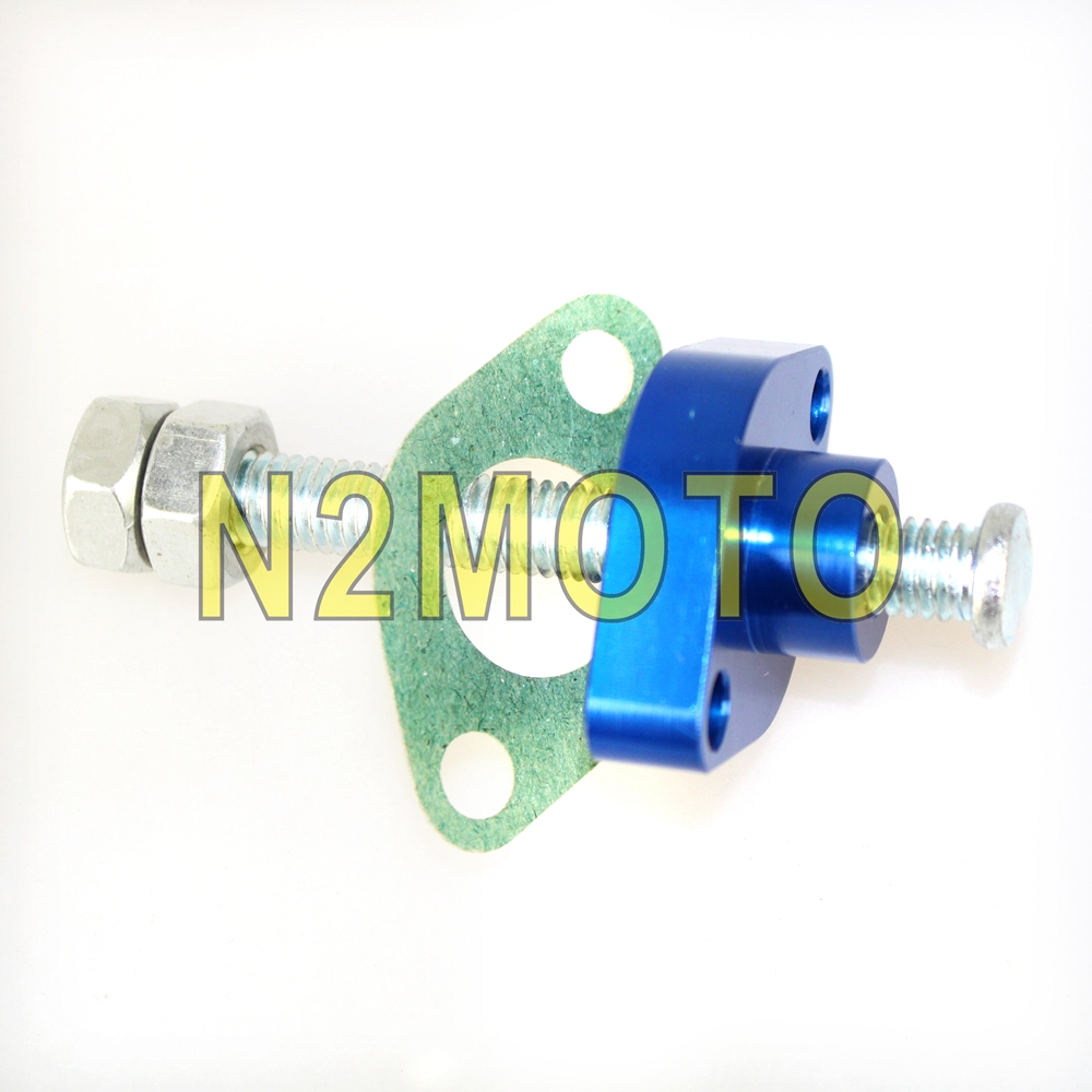 Motorcycle Blue Manual Cam Timing Chain Tensioner for Yamaha TTR XT TT <font><b>YZ</b></font> WR 225 230 250 400 426 <font><b>450</b></font> Off Road image