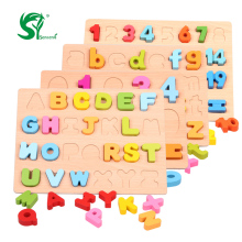Big sale Wooden English Alphabet Puzzles toys for children Montessori digital Board Learning letters Educational puzzle Toy Baby Kids Toy