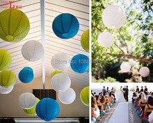 Envío gratis 800 piezas de 8 pulgadas (20 cm) lámpara de papel redonda colgante interior hecha a mano decoración China para el hogar para boda