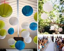 Ücretsiz Kargo 800 adet 8 inç (20 cm) çin ev dekorasyon el yapımı kapalı asılı yuvarlak kağıt fenerler kağıt lamba düğün için