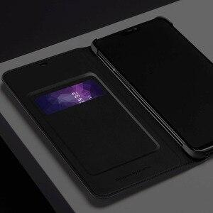 Image 5 - Oneplus 6 T Case Flip Smart Leather Cover Originele Officiële Een Plus 6 6 T Slaap Wake Up Card Slot telefoon Gevallen Oneplus6 Terug Capa