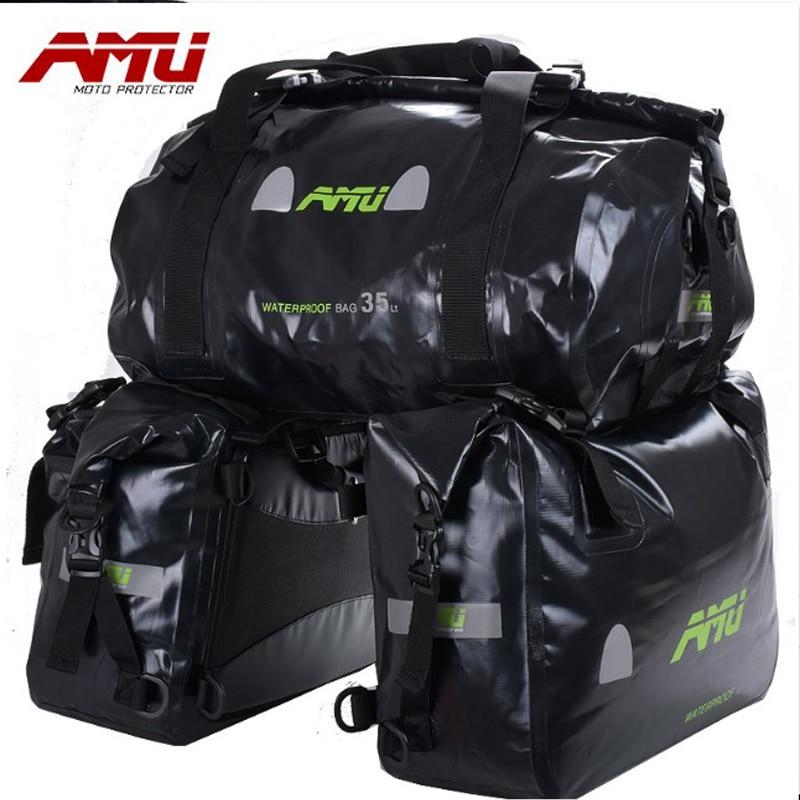 Authentic AMU Motorcycle Bag Saddlebags Waterproof tank bag Racing Riding Motor Helmet Bags Oil Travel Luggage Waterproof Bags