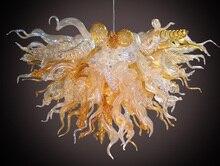 High Ceiling Best Murano Chandelier Fashion Crystal 110v-240v Led Bulbs Amber Color
