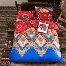 Bohemia juegos de cama duvet cover set para el invierno 3/4 unids bedsheet Funda de Almohada set full twin queen king size ropa de Cama de lujo