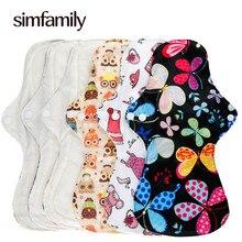 [Simfamily] 10 шт. тяжелые прокладки многоразовые водонепроницаемые менструальные ткани женские гигиенические прокладки из натурального бамбука мягкие здоровые