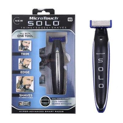 Dropship Micro Toque SOLO Shaver Recarregável Homens Barbeador Aparador de Cabelo Limpeza Pessoal e Edger Hiper-Avançado Navalha Inteligente