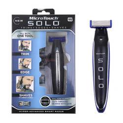 Челнока Micro Touch SOLO перезаряжаемые бритвы для мужчин личные волосы Чистящая бритва триммер и Edger Hyper-Advanced «умная» бритва