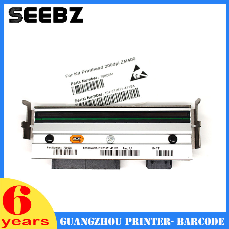 SEEBZ Printer Supplies 79800M New Compatible A+ Quality 203DPI Thermal Print head Barcode Label Printhead For Zebra ZM400 g79056 1m 79056m brand new compatible printhead print head for 203dpi zebra z4m s4m z4m plus thermal label printer printer parts