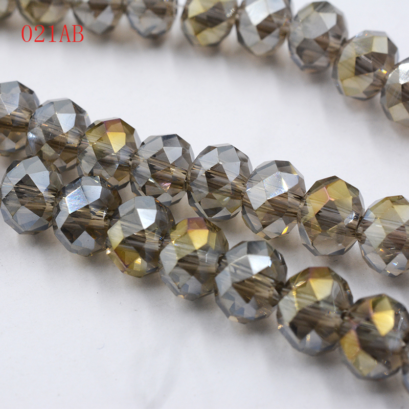 FLTMRH 100pcs 6mm Crystal Rondelle Round Glass Beads DIY Jewellery Making For Bracelet Necklace Wholesale 18 Color