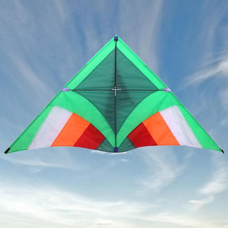New Portable 1.4m Triangle Kids Kite Folding Nylon Stunt Outdoor Sports Beach Kids Flying Toys without Line Tools Easy to Fly