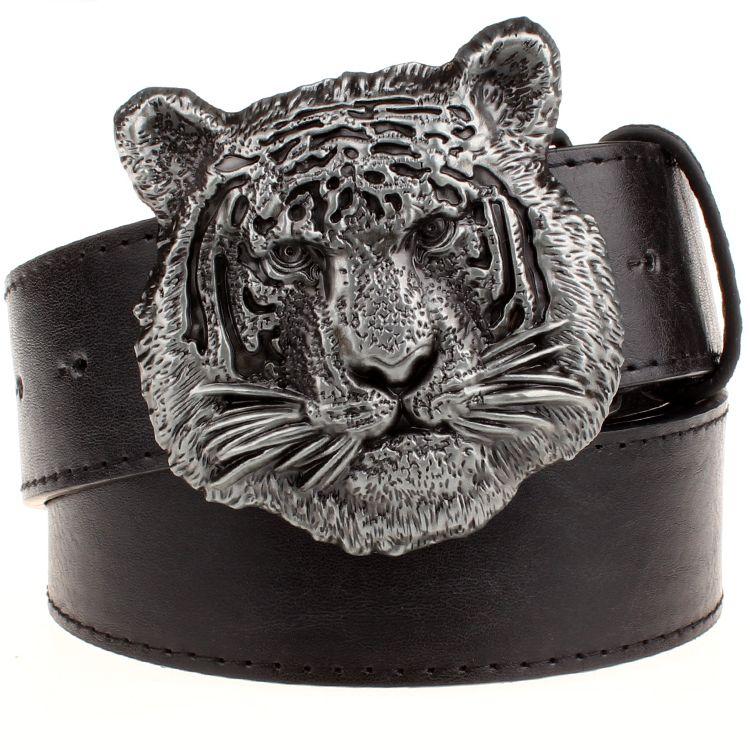 Heavy Metal Cowboy Punk Belt Genuine Leather Hip Hop Belts For Men Cross Rivet Jeans Belt Male Strap Ceinture Homme PT40
