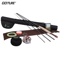 Goture Maxway Fly Fishing Rod Combo Set Kit Aluminum Alloy Fly Reel + 2.4/2.7/3.0M Rod+Line+Main Backing Fly Lure+Bag
