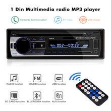 Bluetooth 2,0 Авто Стерео Авторадио автомобильные радиоприемники 1 Din 12V In-dash fm-радиоприемники с пультом дистанционного управления Aux SD USB MP3 автомобильные аудиоплееры