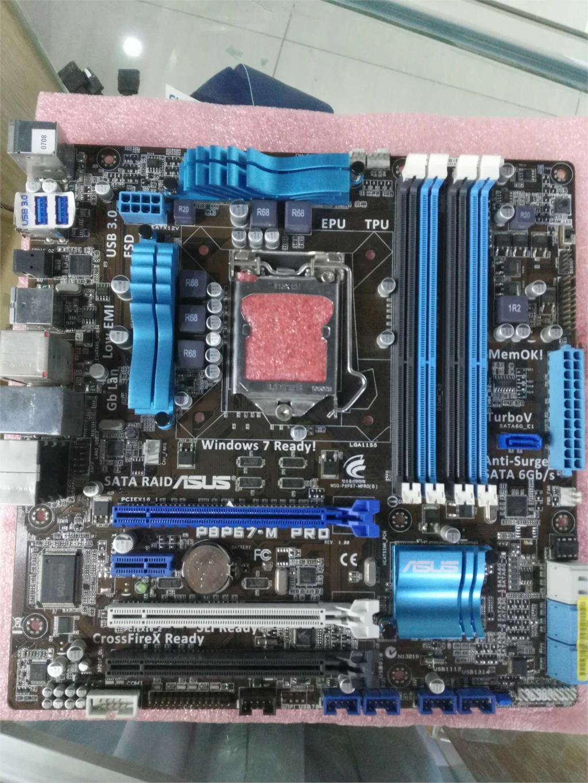 original motherboard P8P67-M PRO DDR3 LGA 1155 boards RAM 32G USB3.0 SATA P67 Desktop Motherboard,95%-99%new