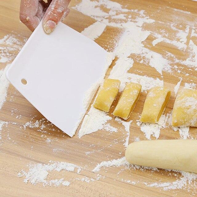 Измельчитель кухонный шпатели для торта торт лопатки для теста скребок для масла трапециевидный скребок Инструменты для тортов Пластик тесто скребок