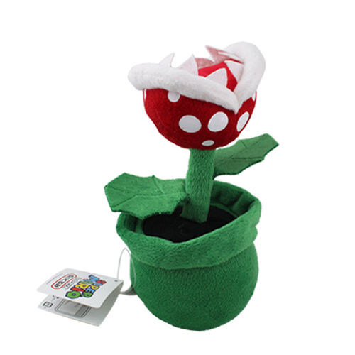 2017 Super Mario Bros Piranha Plant 19cm Soft Plush Doll Toy Baby Stuffed Toys