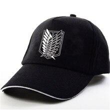 YOUPOP KPOP Attack on Titan логотип черная бейсболка хип-хоп кепка мужские и женские шапки