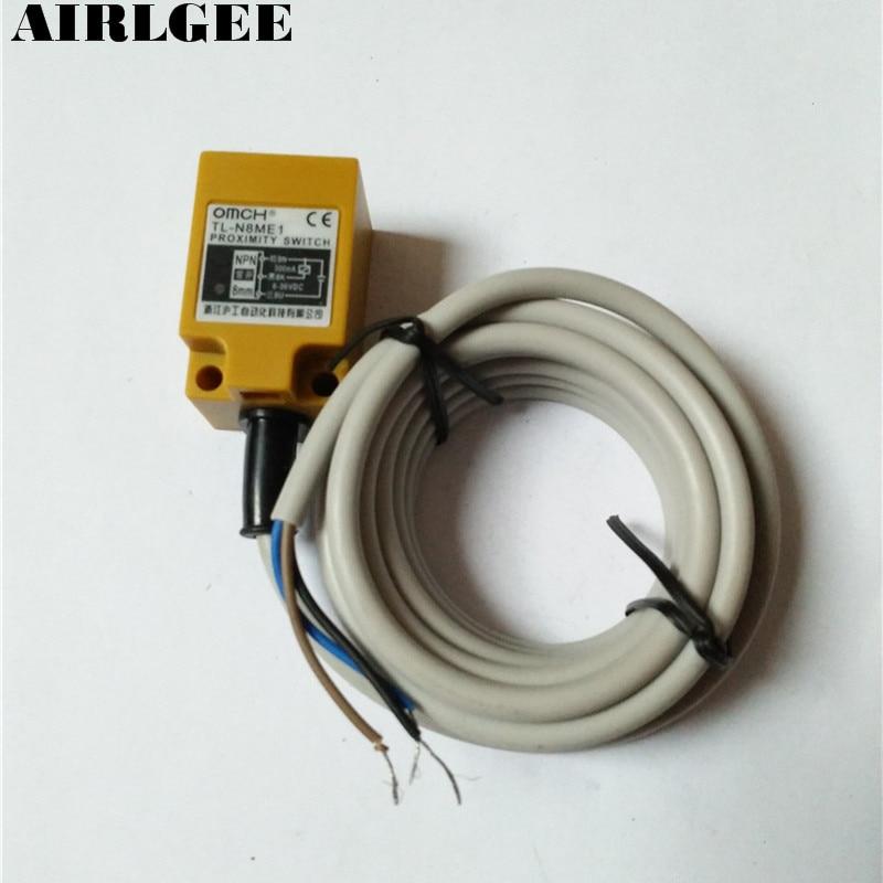 TL-N8ME1 Rectangle 8mm Detect Inductive Sensor NPN Proximity Switch DC 6-36V tca 2050a 50mm approach inductive sensor proximity switch ac 90 250v