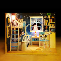 DIY house cabin space dream 3 d assembly model toys on display props creative birthday gift
