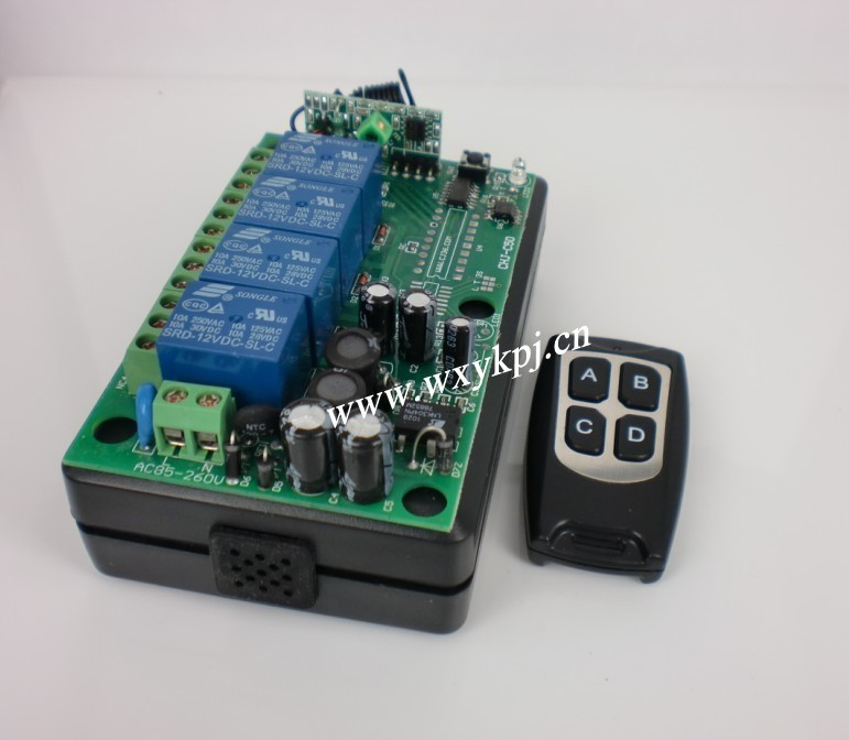 85V~250V 10A 4CH Channel RF Wireless Remote Control System Receiver & Transmitter light switch AK 315mhz water pump