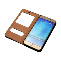 Top Quality Genuine Leather Flip Stand Cover Cases For Samsung Galaxy A8 A8000 Case Touch Screen