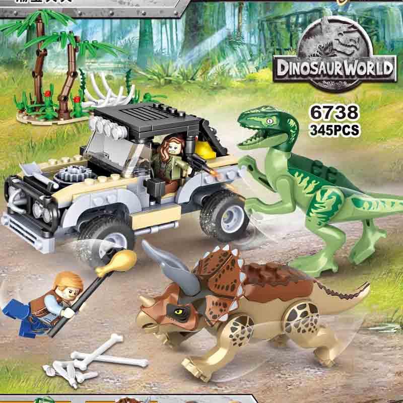2019 Jurassic World 2 Park Dinosaurs Indoraptor Pterosauria Dino Building Blocks Figures Collection Learning Toys For Children
