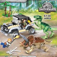 2019 Jurassic World 2 Park Dinosaurs Indoraptor Pterosauria Dino Building Blocks Figures Collection Learning Toys For Children